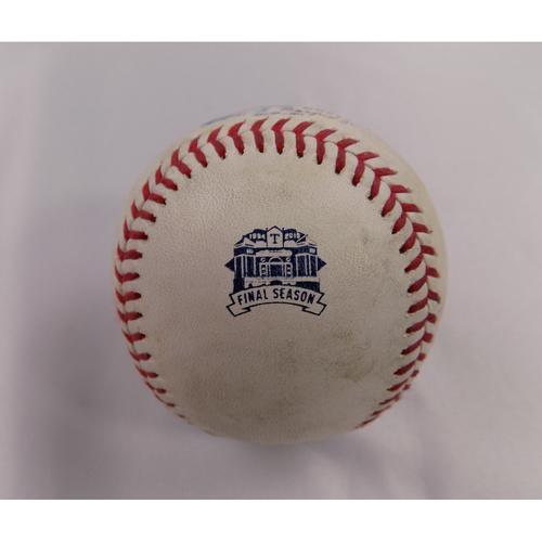 Photo of Game-Used Baseball - 9/24/2019 - BOS @ TEX - Gorkys Hernandez 1B/Rafael Devers 2B (51)/RBI/Xander Bogaerts SAC FLY