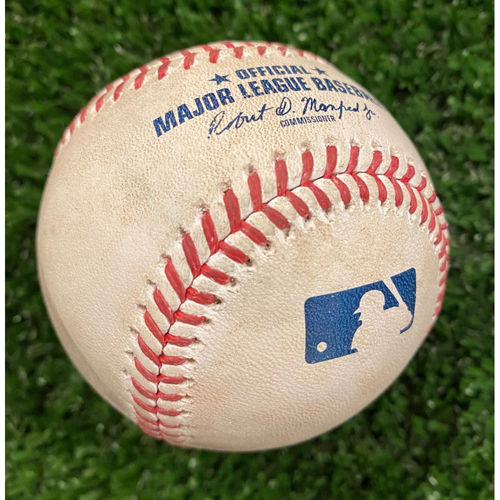 Photo of Ozzie Albies Game Used Home Run Baseball - September 9, 2020 - Braves Break NL Record for Most Runs Scored in a Game with 29 Runs.