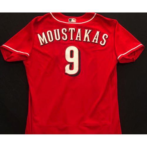 Photo of Mike Moustakas -- 2020 Spring Training Jersey -- Game-Used -- Size 48