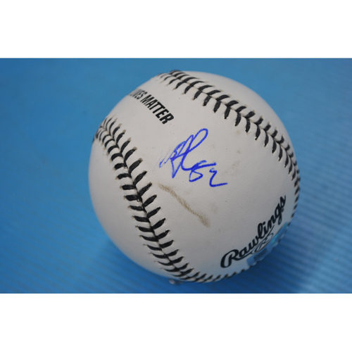 Photo of 2020 MLB Black Lives Matter Commemorative Ball - Autographed by Mike Clevinger