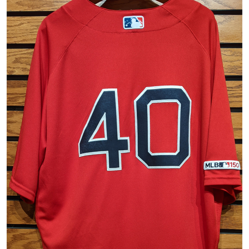 Marco Hernandez #40 Game Used Red Home Alternate Jersey