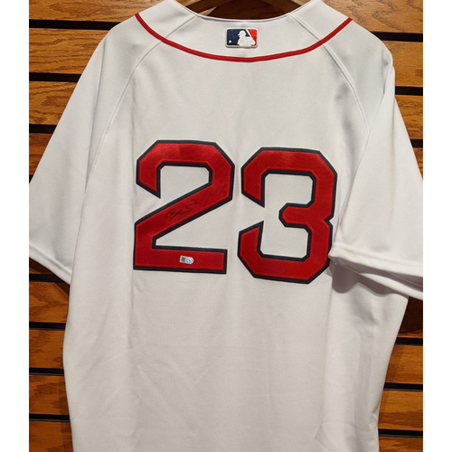 Photo of Blake Swihart #23 Autographed Home White Jersey
