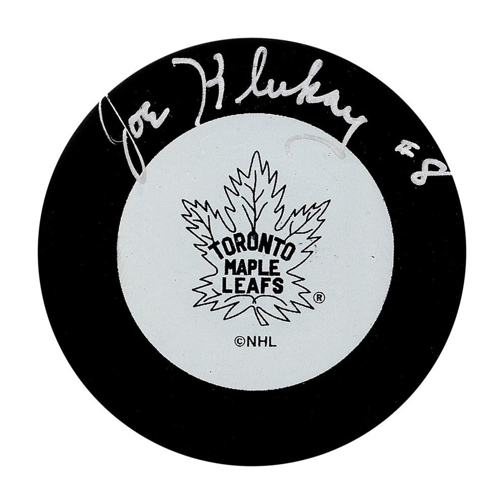 Joe Klukay Autographed Toronto Maple Leafs Puck