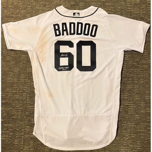 Photo of Baddoo Exclusive! Akil Baddoo Autographed Game-Used Home Jersey with Inscription (Game Used 2021) (MLB AUTHENTICATED)