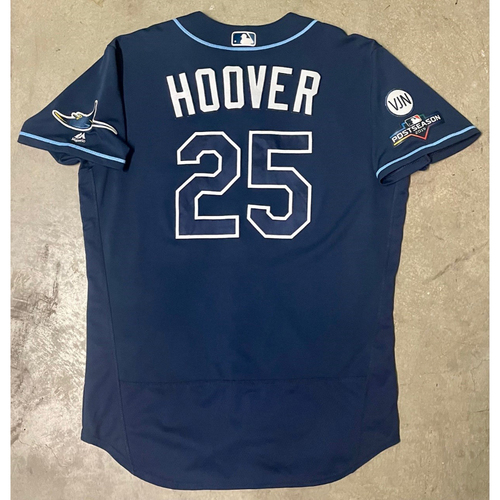 Photo of Game Used ALWC and ALDS Game #5 Navy Jersey: Paul Hoover - October 2, 2019 at OAK and October 10, 2019 at HOU