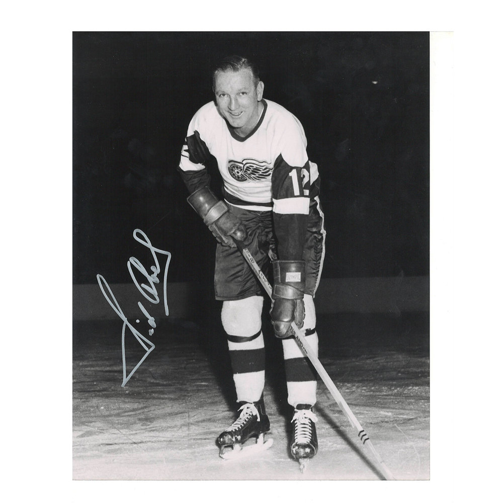 SID ABEL Signed Detroit Red Wings 8 X 10 Photo - 70094