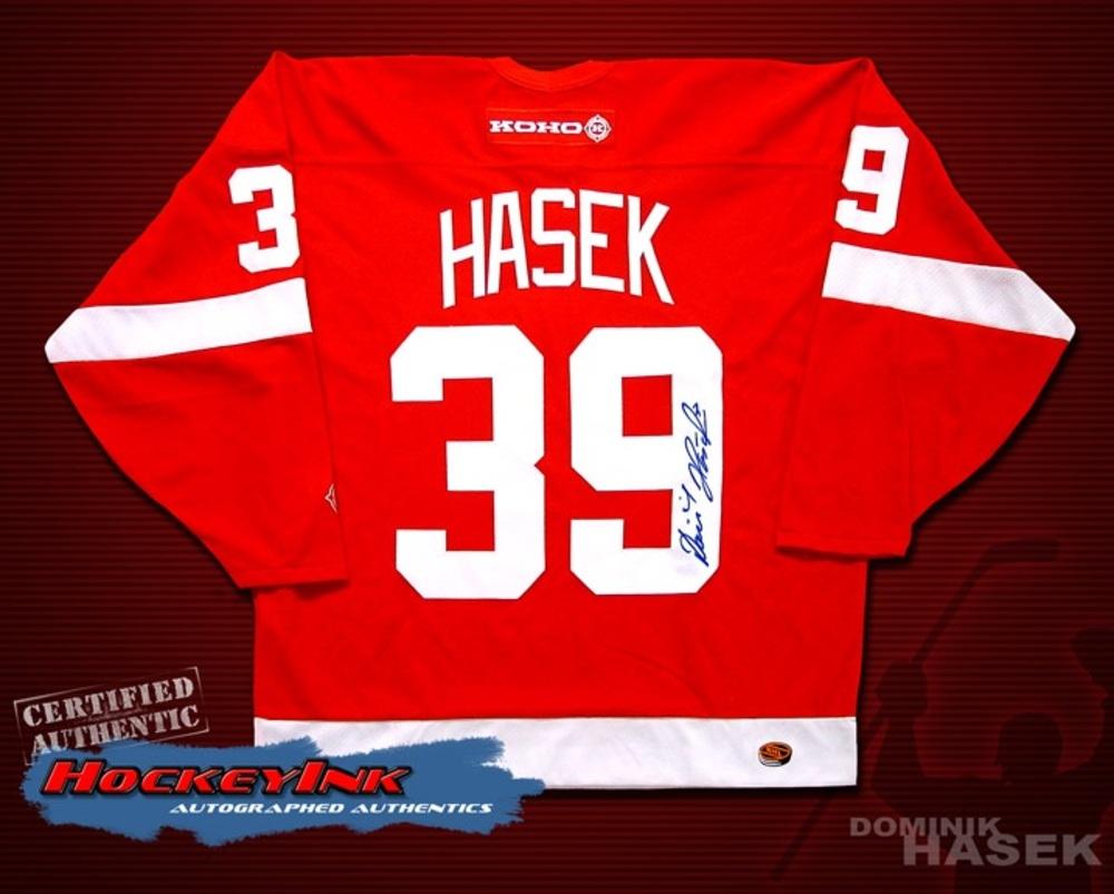 DOMINIK HASEK Signed Red Detroit Red Wings Jersey