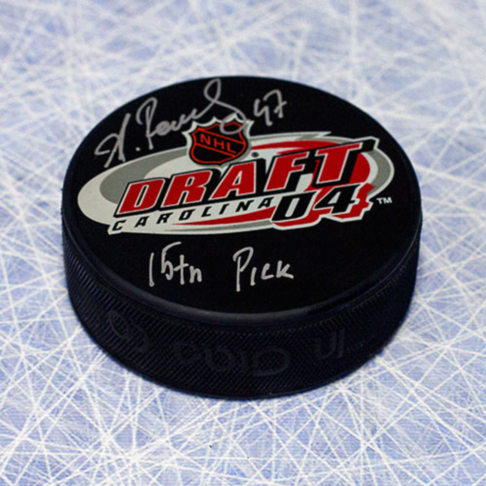 Alexander Radulov 2004 NHL Draft Day Autographed Puck with 15th Pick Note *Montreal Canadiens*