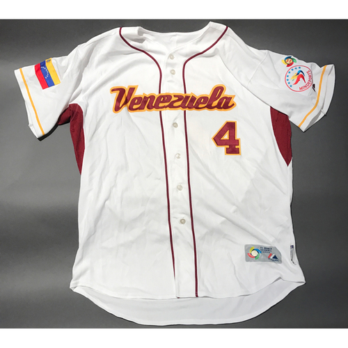 Photo of 2009 World Baseball Classic Jersey - Venezuela Home Jersey, Jose Lopez #4