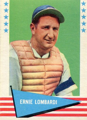 Photo of 1961 Fleer #55 Ernie Lombardi -- Hall of Fame Class of 1986