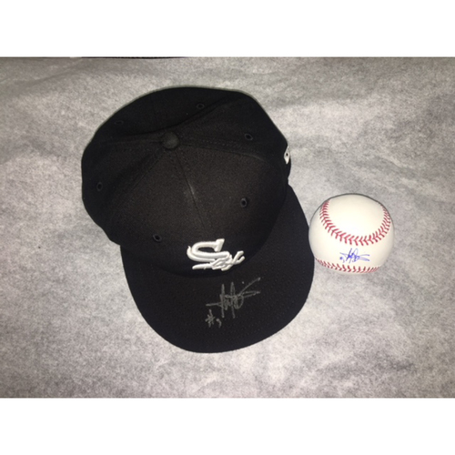 Harold Baines Autographed Cap and Baseball