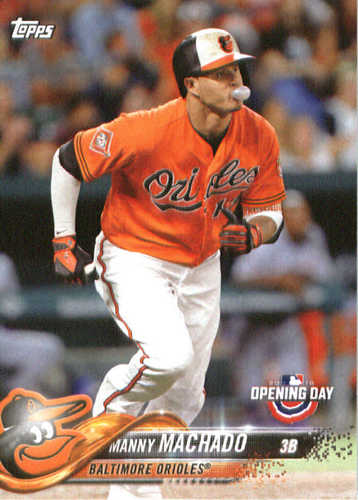 Photo of 2018 Topps Opening Day #16 Manny Machado