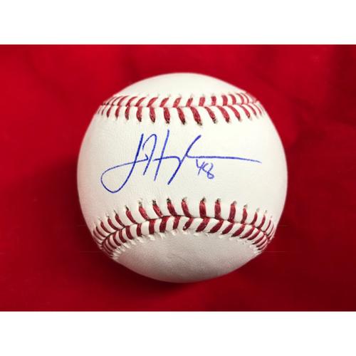 Photo of Jared Hughes -- Autographed Baseball
