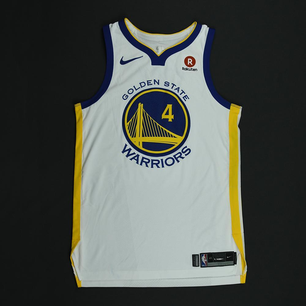 Quinn Cook - Golden State Warriors - 2018 NBA Finals - Game 1 - Game-Worn White Jersey