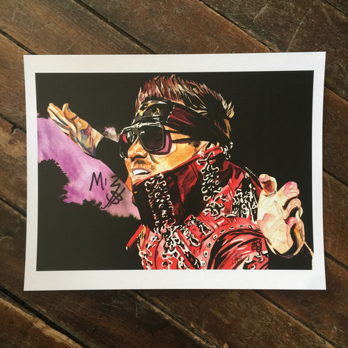 Photo of The Miz SIGNED 11 x 14 Rob Schamberger Print