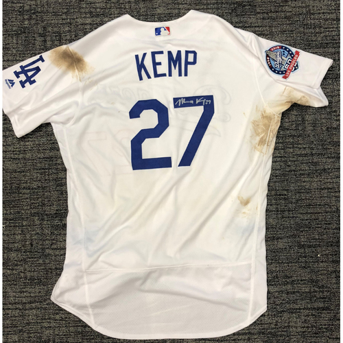 Photo of LA Dodgers Foundation Auction: Matt Kemp 2018 Game-Used Autographed LA Dodger Jersey