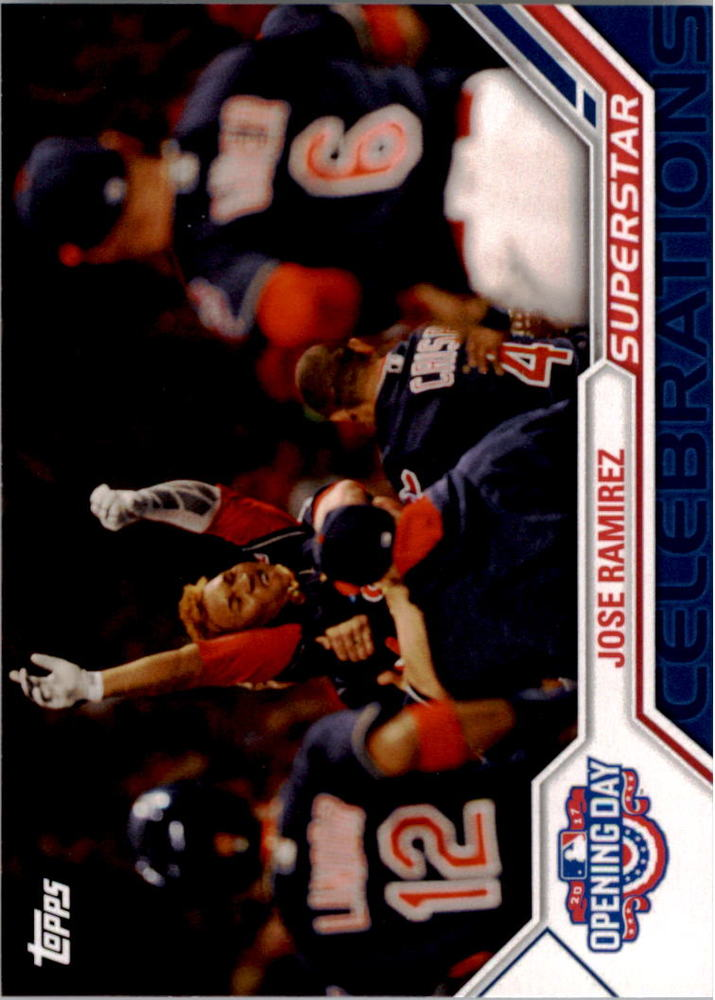 2017 Topps Opening Day Superstar Celebrations #SC22 Jose Ramirez