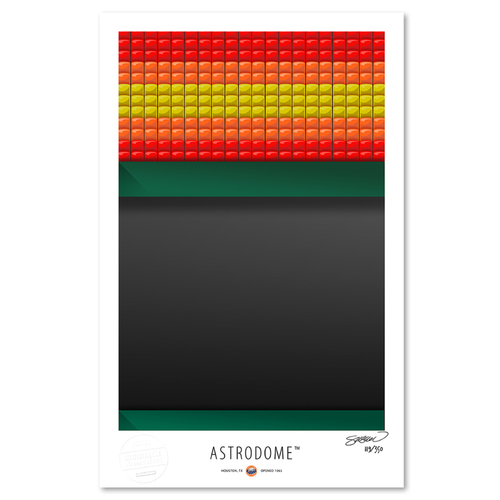 Photo of Astrodome - Collector's Edition Minimalist Art Print by S. Preston #119/350  - Houston Astros