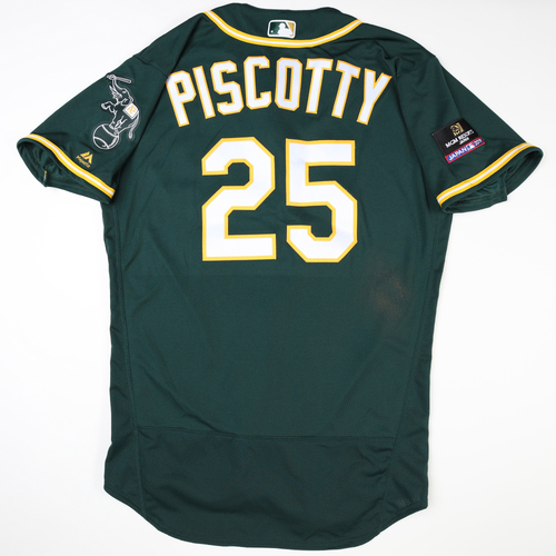 Photo of 2019 Japan Opening Day Series - Game Used Jersey - Stephen Piscotty, Oakland Athletics at Nippon Ham Fighters -3/17/2019