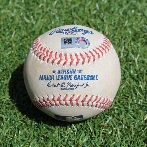 Photo of Game-Used Baseball: Harold Castro 4th Career Double and 11th Career RBI (DET @ KC - 7/14/19)