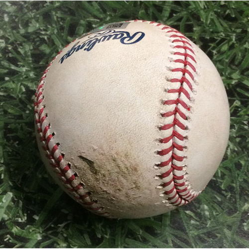 Game-Used Baseball LAD@MIL 07/21/18 - Chase Anderson - Manny Machado: Single