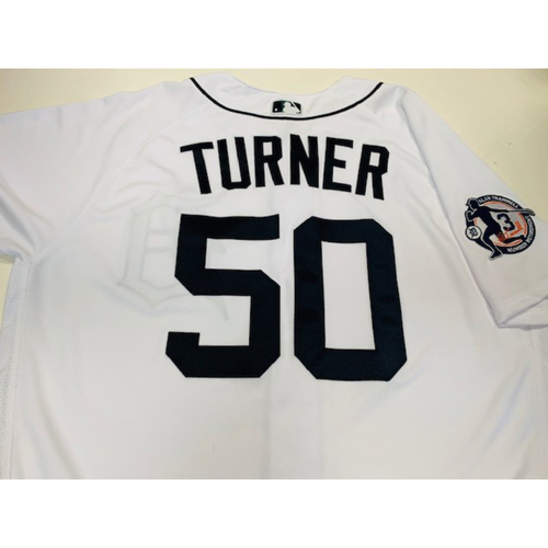 Photo of Team-Issued Alan Trammell Number Retirement Jersey: Jacob Turner
