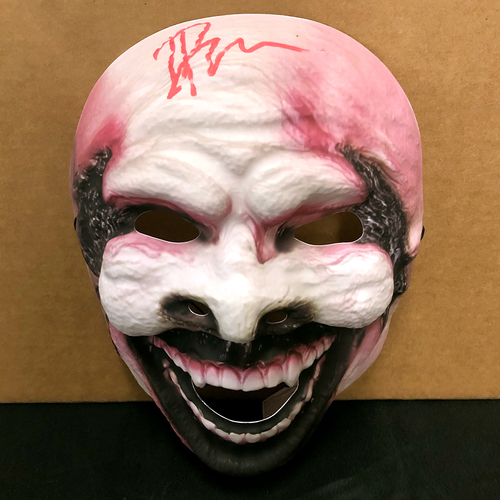 Photo of Bray Wyatt SIGNED The Fiend Plastic Mask