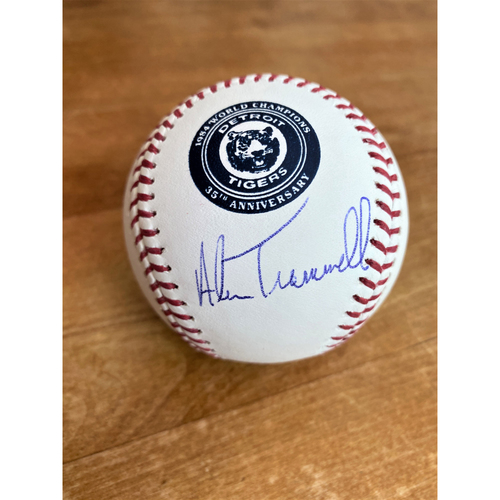 Photo of Alan Trammell Autographed 1984 World Series 35th Anniversary Commemorative Baseball (MLB AUTHENTICATED)