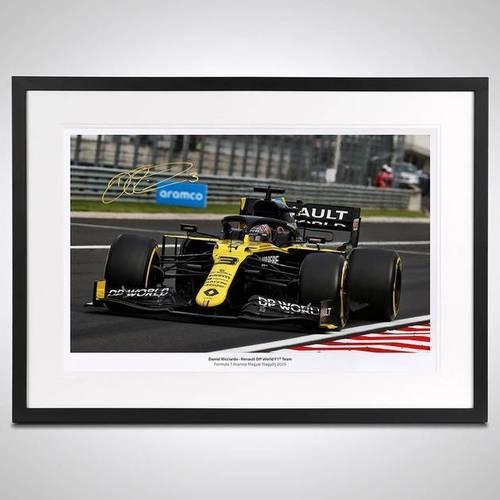 Photo of Daniel Ricciardo 2020 Framed Signed Photo - Hungarian GP