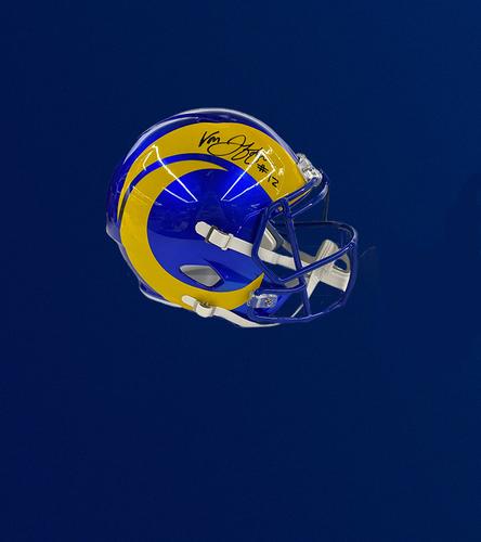 Photo of Van Jefferson Signed Speed Replica Helmet