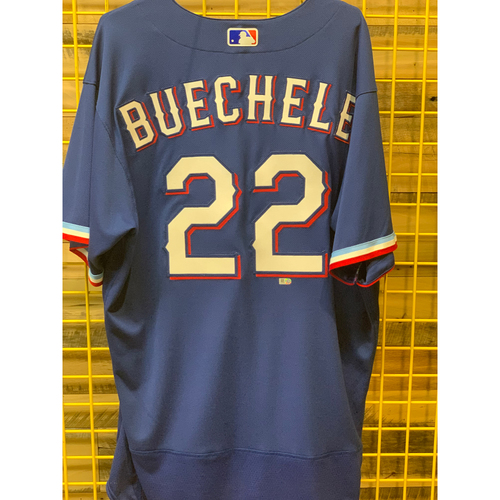Photo of Steve Buechele Team-Issued Spring Training Jersey