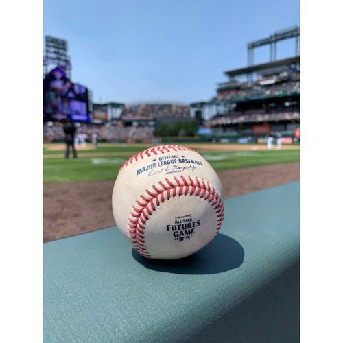 Photo of 2021 MLB Futures Game - Game-Used Baseball: Pitcher: Shane Baz, Batter: Michael Harris - Strikeout Looking - Bot 2