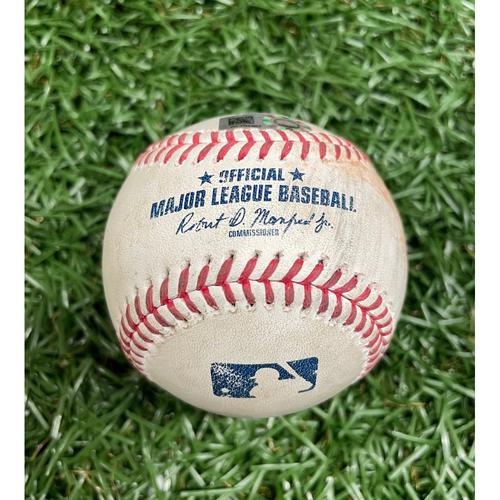 Photo of Game Used Baseball: Rafael Devers single off Aaron Slegers - Top 7 - September 13, 2020 v BOS