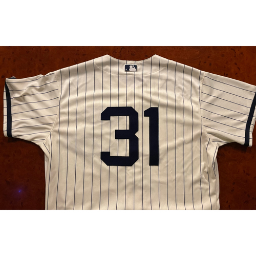 Photo of Liam Hendriks Game-Used Jersey - August 12, 2021 - Dyersville, Iowa