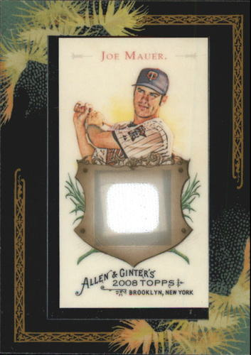 Photo of 2008 Topps Allen and Ginter Relics #JM Joe Mauer Jsy C