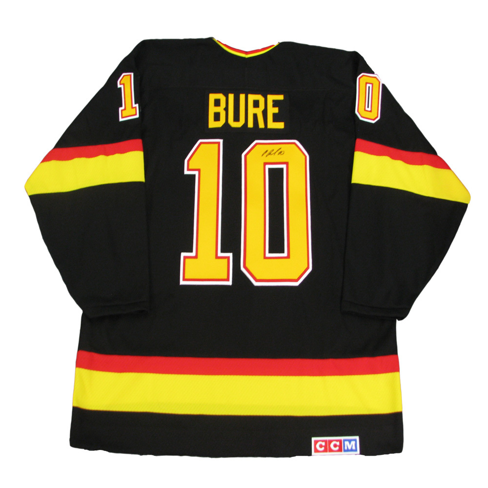 PAVEL BURE Signed Vancouver Canucks Black CCM Jersey
