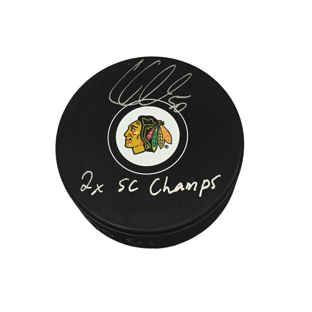 COREY CRAWFORD Signed Chicago Blackhawks Puck with