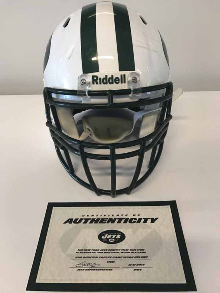 New York Jets - #98 Quinton Coples Game Worn Helmet