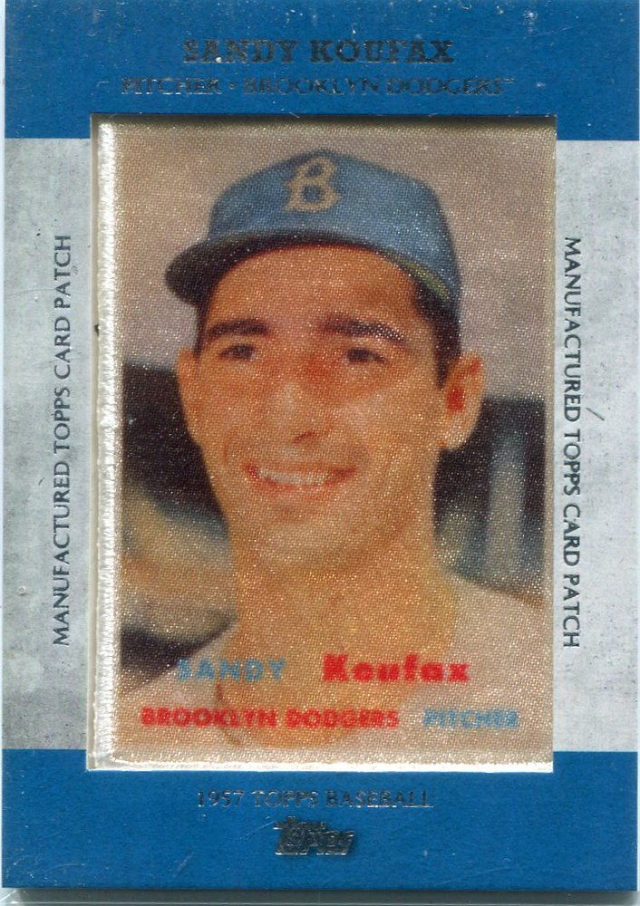2013 Topps Manufactured Patch Sandy Koufax