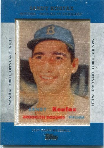 Photo of 2013 Topps Manufactured Patch Sandy Koufax -- Hall of Famer