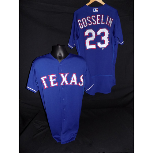 Photo of Phil Gosselin Game-Used Blue Jersey - Size 46