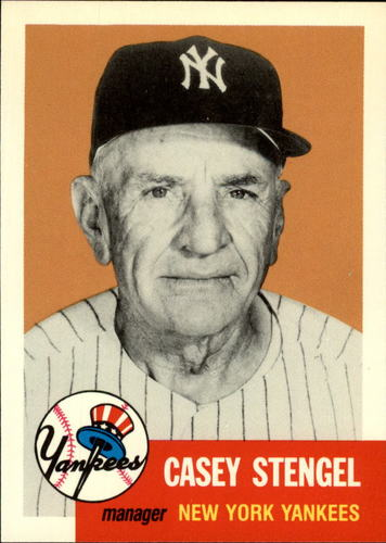 Photo of 1991 Topps Archives 1953 #325 Casey Stengel MG