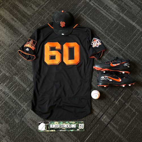 Photo of San Francisco Giants - Hunter Strickland Game-Used Memorabilia  Ultimate <i>From The Clubhouse</i> Collector's Pack