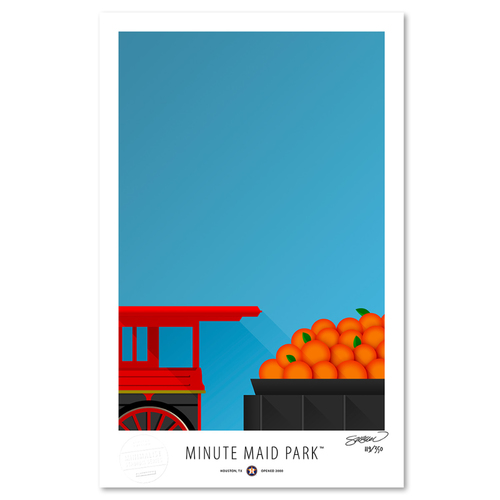 Photo of Minute Maid Park- Collector's Edition Minimalist Art Print by S. Preston #119/350  - Houston Astros