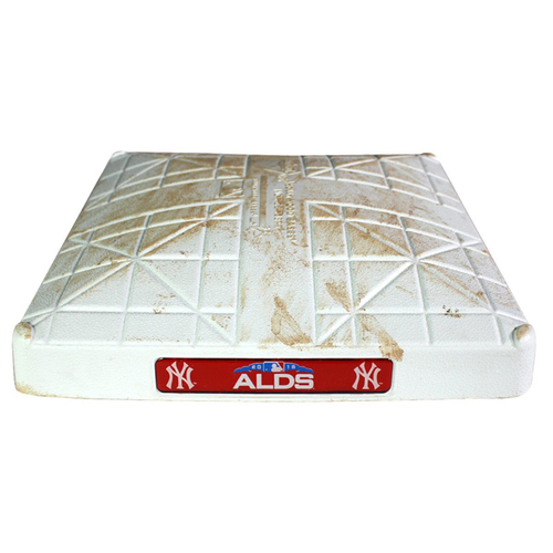 Photo of Red Sox at Yankees 10-9-2018 American League Division Series Game 4 Game Used Second Base (1st Inning)