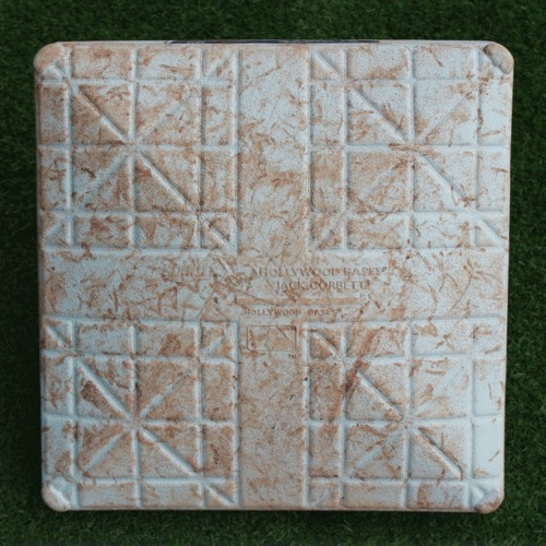 Photo of Game-Used 2nd Base: Albert Pujols 3,100th Career Hit (637th Career Home Run - LAA @ KC - 4/26/19 - 2nd Base Innings 1-5)