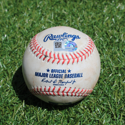 Photo of Game-Used Baseball: Mike Montgomery Pitched Strikeout to Vladimir Guerrero Jr. (TOR @ KC - 7/30/19)