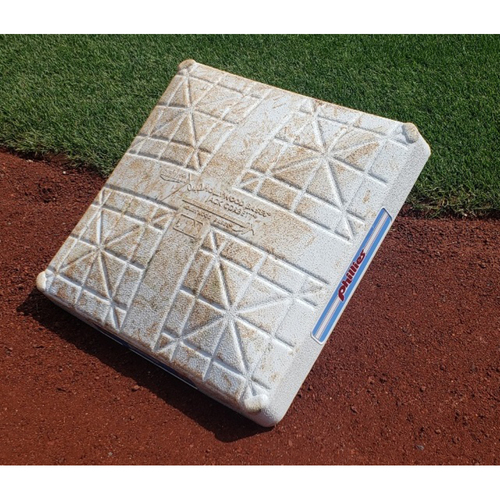 Photo of 2019 Phillies Game-Used 1st Base (Innings 7-9) - Bryce Harper Walk-Off Grand Slam