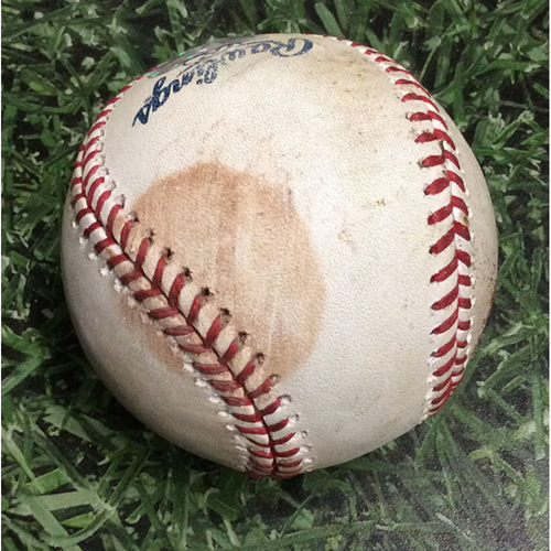 Game-Used Baseball MIN@MIL 07/04/18 - Jeremy Jeffress - Jorge Polanco: RBI Single