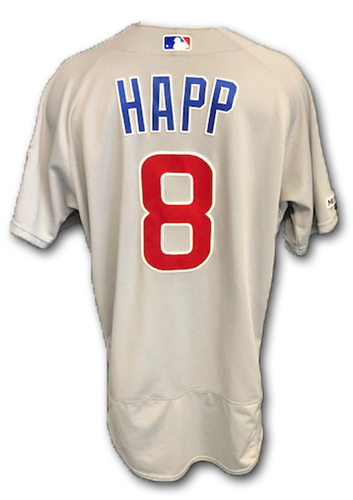 Photo of Ian Happ Game-Used Jersey -- Happ 2 Hits, 2 RBI -- Cubs at Padres -- 9/12/19 -- Size 44
